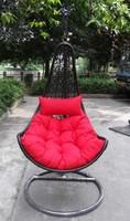 Hannah Outdoor wicker Basket hanging Chair Garden Furnitures swing chair outdoor rattan recliner chair
