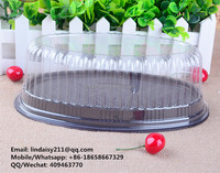 Plastic Cake domes and bases container, OEM accept
