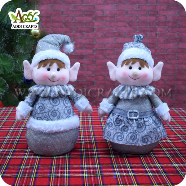Retail Shop Imported Christmas Ornaments Elf Table Ornaments
