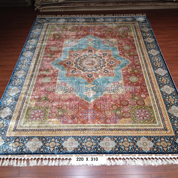 new tribe style 7x10ft persian handmade silk handknotted area rugs cheap