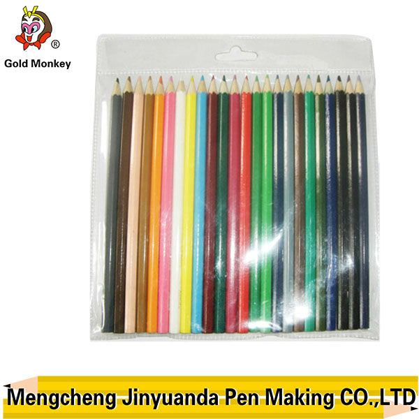 "7"" high quality 24pcs color pencil in opp bag"