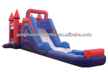 Free CE blower inflatable combo games/Jumping castle with water slide