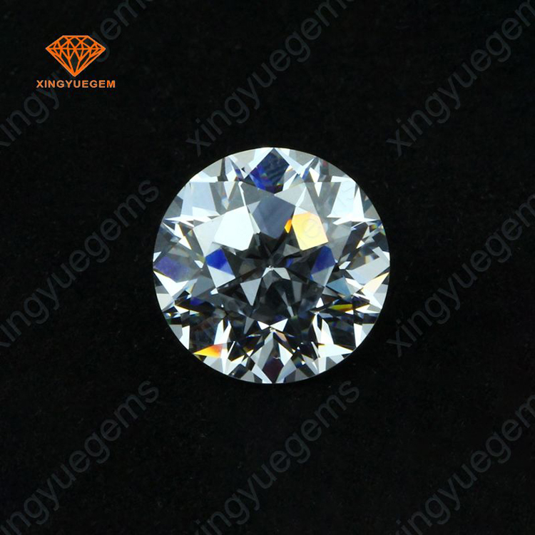Sparkle shinning 10mm big size round shape cubic zirconia loose crystal stone