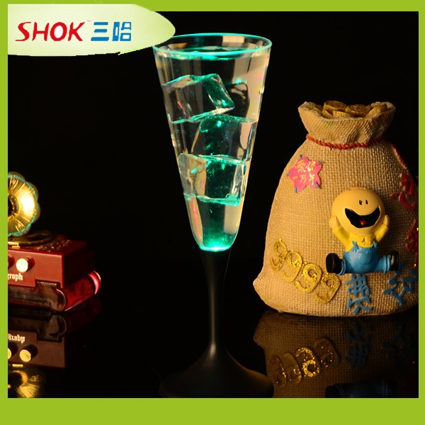 Custom led flashing glass, plastic cup, Champagne Cup