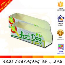 custom recyclable food grade paper hot dog box
