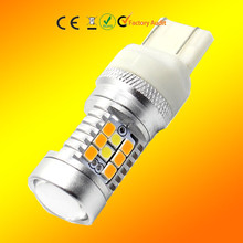 T20 7443 LED W21W/5W 3030 2835 dual color switchback bulb light White Yellow amber Projector tail rear Turn Signal stop brake