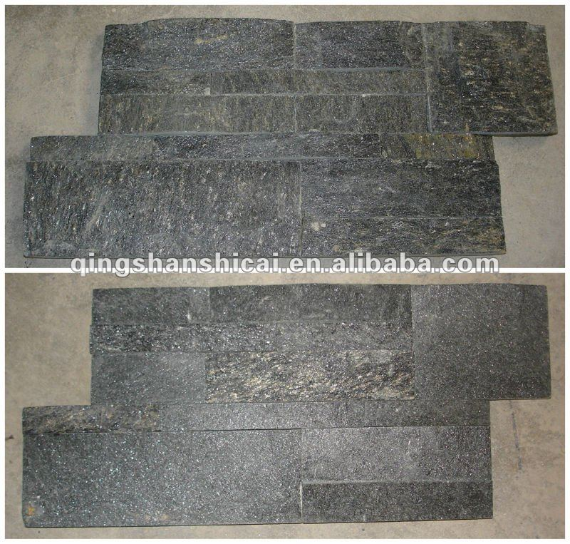 Quarzo nero z mattoni pareti interne in mattoni decorativi ...
