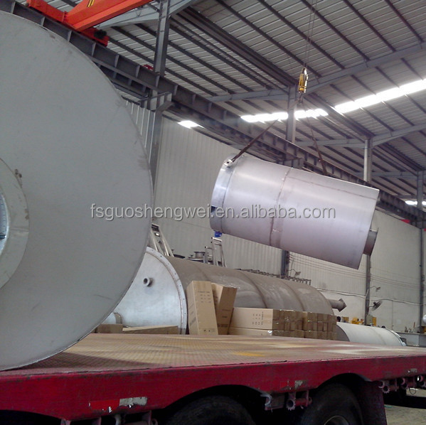 Stainless steel horizontal parkering tank