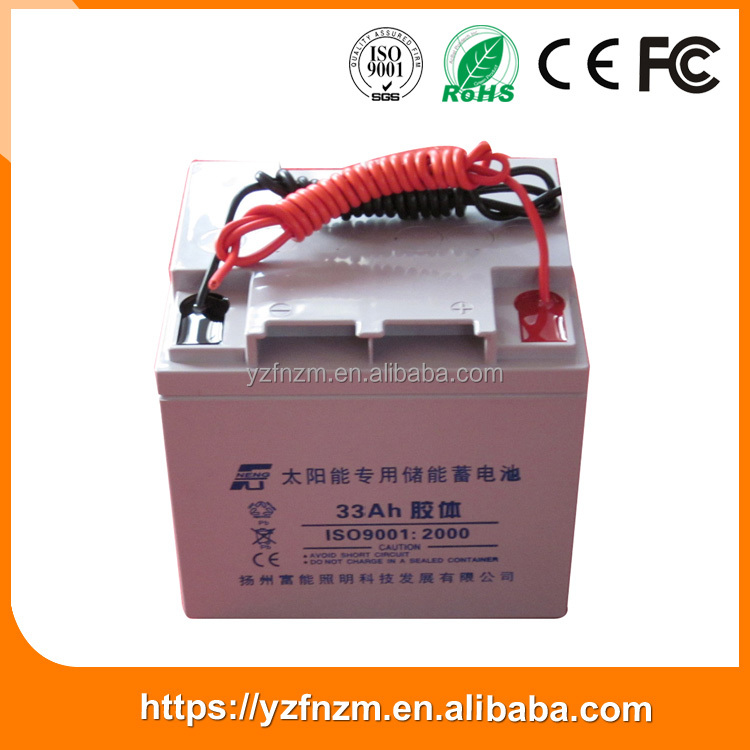 New Type Modern Style 33 ah Capacity CE / ISO9001 Certificate nano gel battery