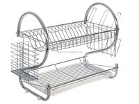 2 Tiers dish drying Rack Drainer Kitchen plate rack