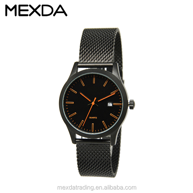 new alloy case hot sell mens black japan movt watch 3atm wholesale luxury fashion quality watch