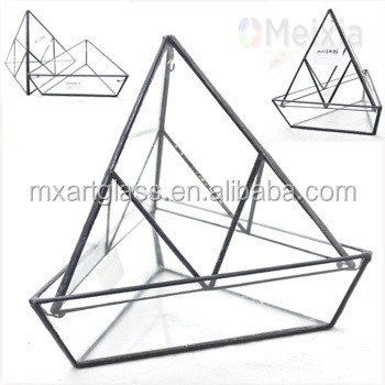 MX130086 Glass Terrarium Plant Holder for home decro