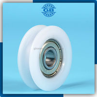U groove ball bearing pulley for sliding door