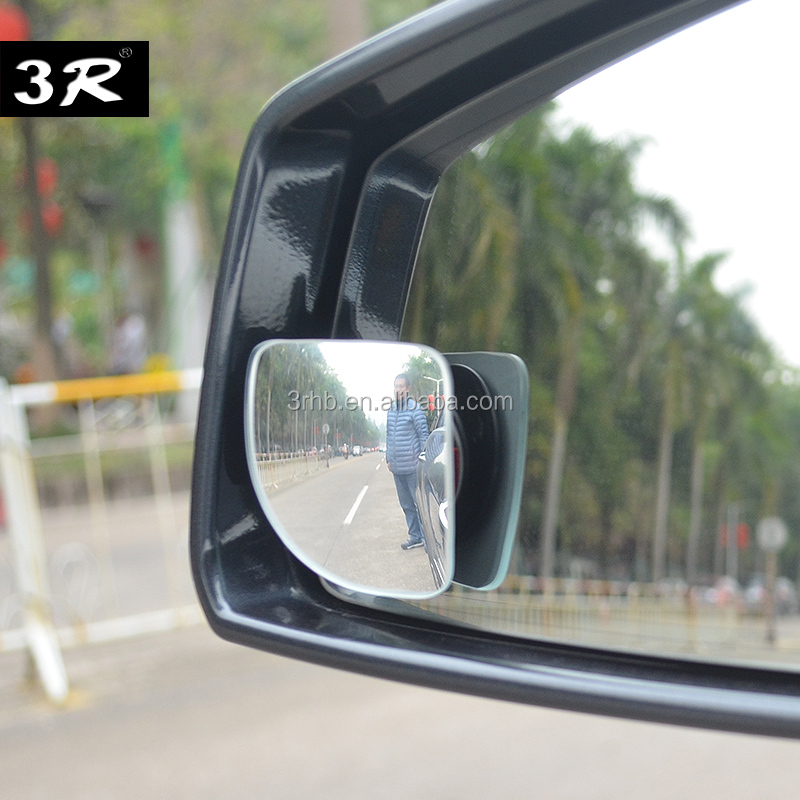 Universal adjustable car convex fanshaped wide angle auto side exterior rear view blind spot mirror