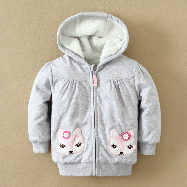 IN-STOCK baby appreal, cotton newborn baby clothes, hooded girls jackets, pretty and cute clothing design for wholesale