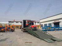 Special customized container used hydraulic loading ramp yard ramps