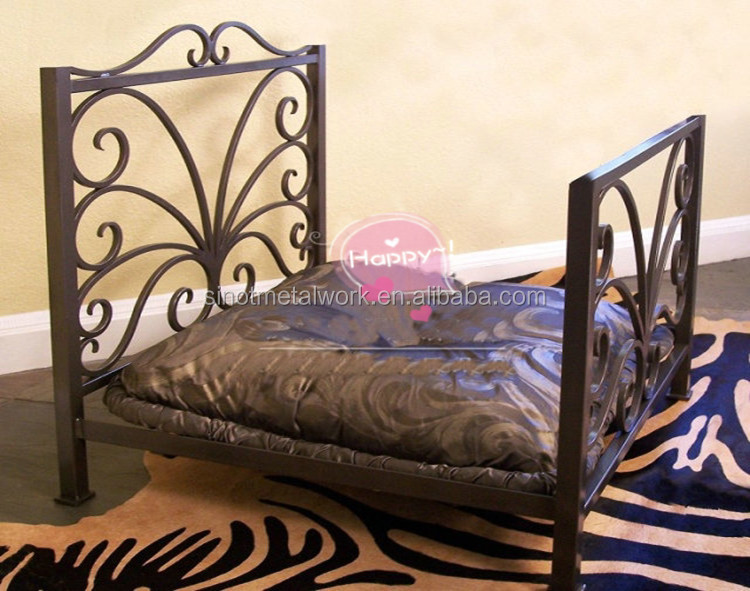 2016 new pet bed elegant wrought iron pet dog and cat bed