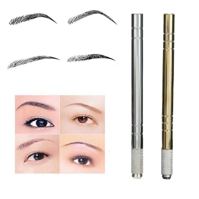 Newly permanent makeup manual golden/silver micro-blading pen