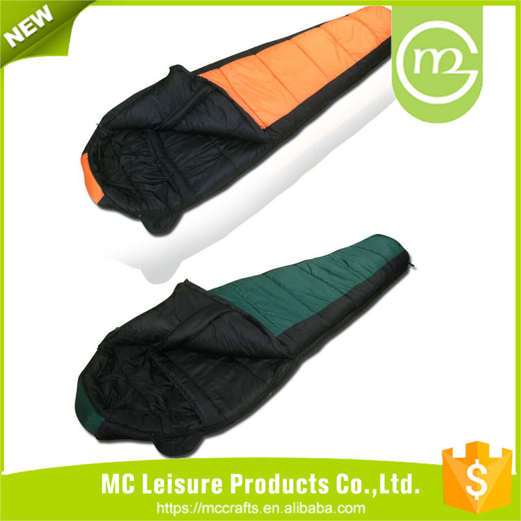 Various good quality hiking mummy sleeping bag