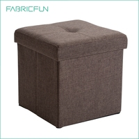 Single Folding Upholstered Storage Ottoman Square