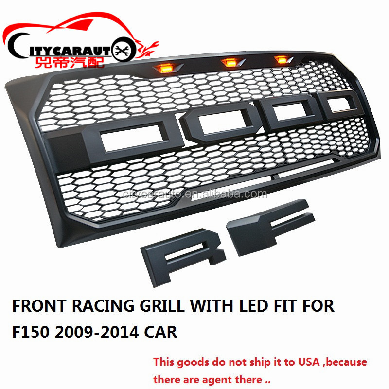 2009-2014 F-150 GRILLE FRONT RACING GRILL GRILLS FIT FOR F-150 F150 2009-2014 CAR