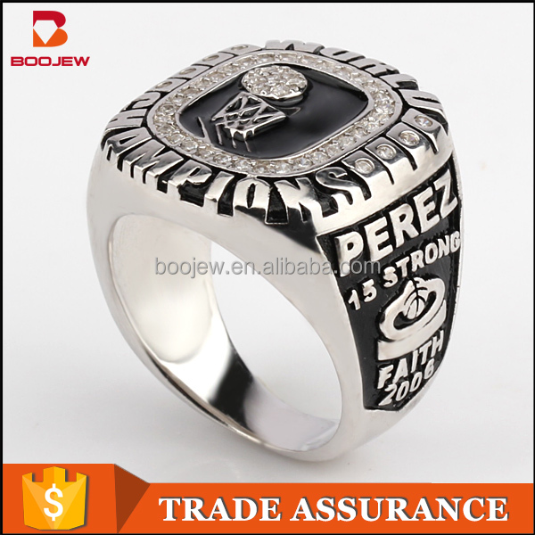 New design silver jewelry masonic championship Sports Hockey Rings For Men