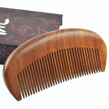 High Quality 100% Natural Fragrant Sandalwood Combs Travel Comb No-static Massage Hair Wood Comb