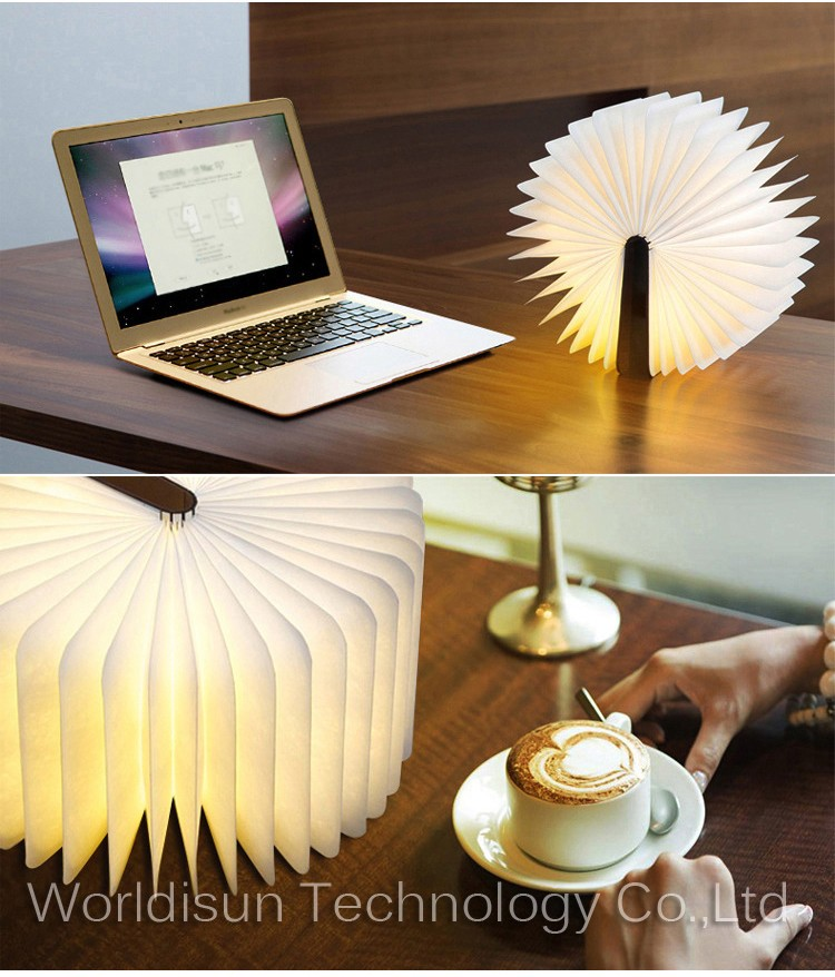 2017Hot Sales christmas led book light/Usb foldable table Lamp/gift items wholesale