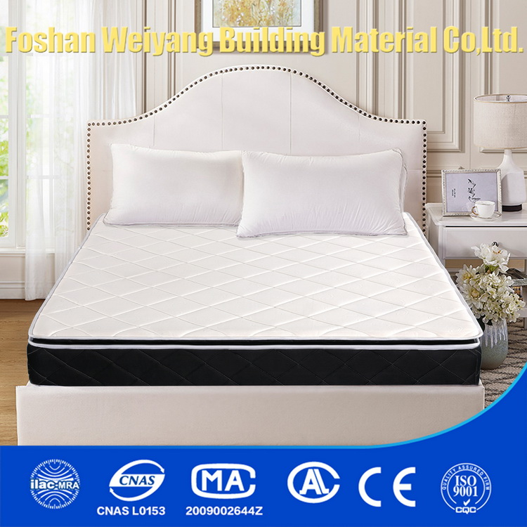WSS732 Wholesale Malaysia king size pillow top spring mattress