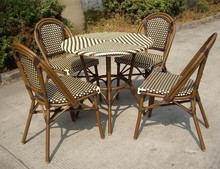 Cheap rattan bistro table and chair