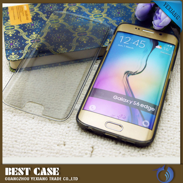 hybrid 2 in 1 case clear view cover case for samsung galaxy s6 edge