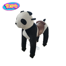 Custom-Made panda rocking horses for adults walking horse toy