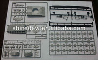 Plastic injection mold for static tank models
