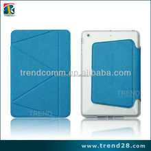 New arrival transformers stand leather case for ipad mini