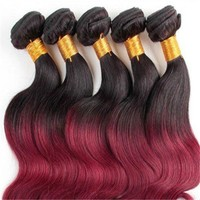 Brazilian Hair Weave, 100 Percent Human Hair On Sale, Ombre Hair Weave