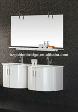 high gloss white shinning Wall mounted PVC bathroom vanity/cabinet/furniture GB-P3173