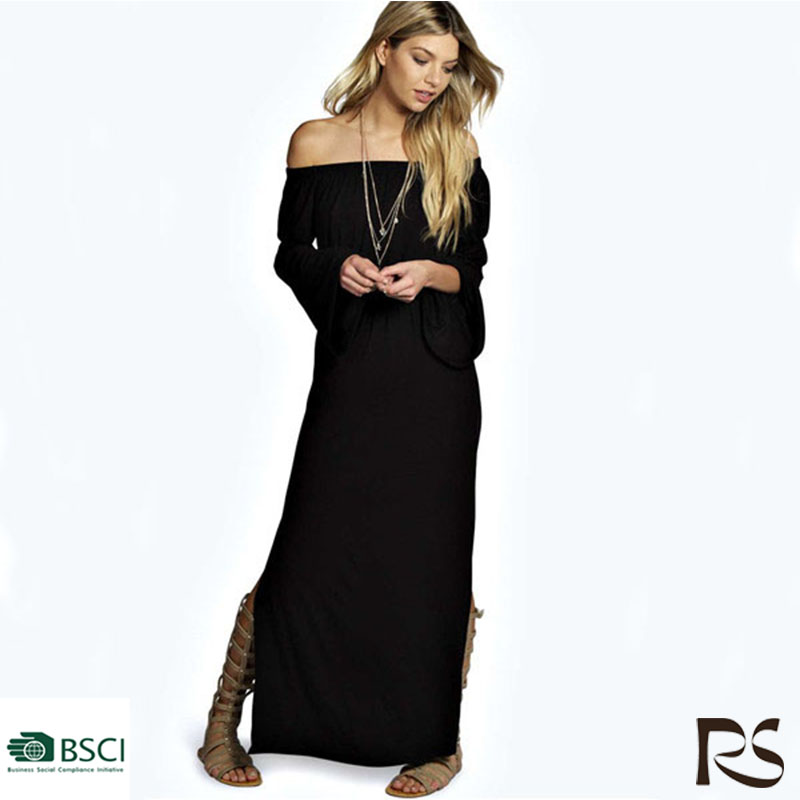2016 Off-Shoulder New Long Sleeve For Lady Dress Fashion