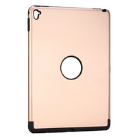 china factory hot sales armor pc and tpu gold color tablet case for ipad pro 9.7