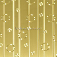 2015 China Popular 201 Golden Stainless Steel Sheet Top Industries in Foshan