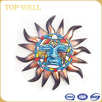 High quality of art work of home interior wall polyresin decoration of sun of god made in CHINA