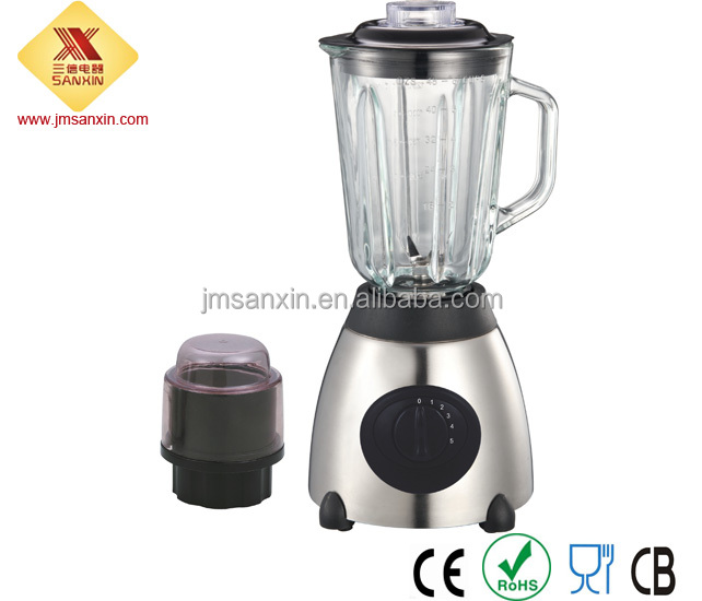 low price glass jar electric blender 1000w