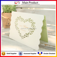 libaba wedding card suppliers hot sale wholesale price good quality luxury wedding invitation card with heart shape