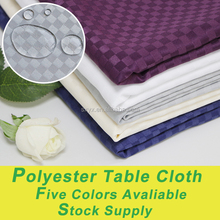 Classic Hotel table linen Fabric table cloths polyester jacquard table cover 5 colors available for wholesale