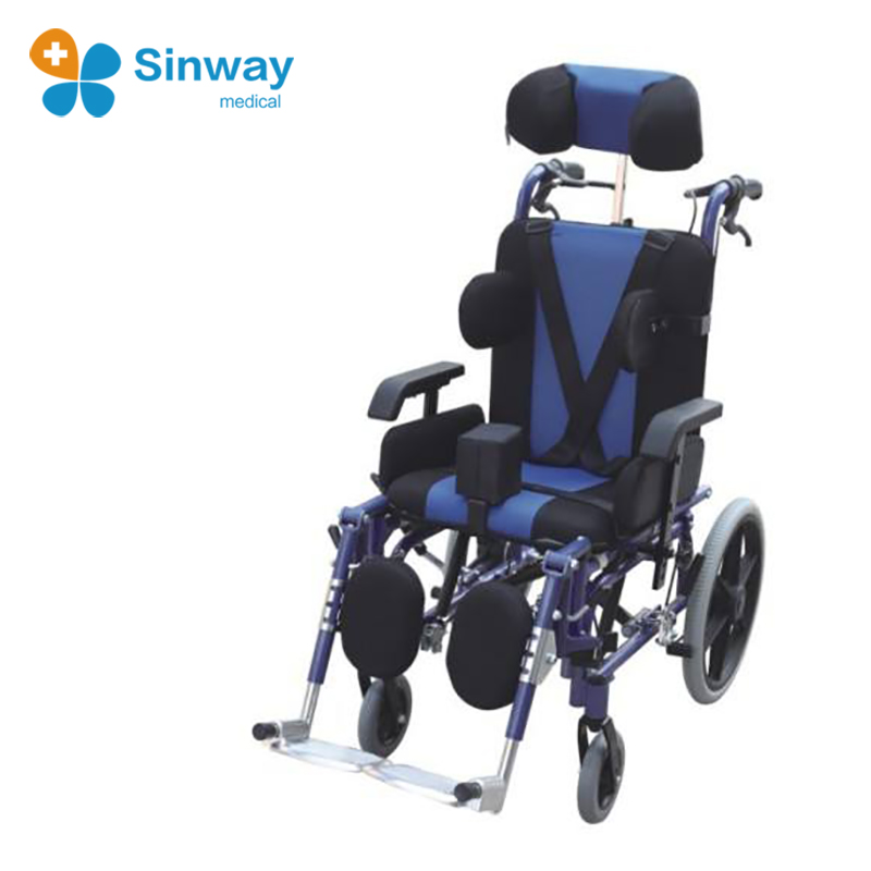 Aluminum 180degree Recling Tilt In space Wheel Chair With Headrest