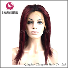 High Quality 100% silky straight wave full lace Human Hair Wig