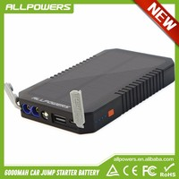 6000mah Portable Car Jump Starter Solar Power Bank Emergency Auto Battery Booster Pack for Vehicle Battery 12V.