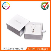 Luxury drawer style silver jewellery boxes paper custom design free