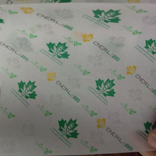 custom printed greaseproof parchment paper for Canada