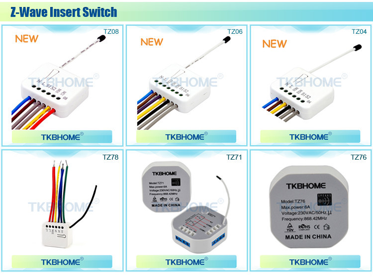 z-wave relay switch module with power meter TZ04