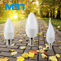 Best price led candle bulb with smd leds milk white plastic cover and e27or e14 lamp base not filament bulb with warmwhite mbt